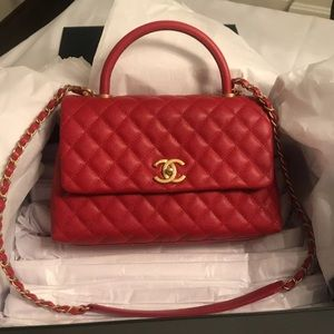 Red Caviar Coco Handle bag